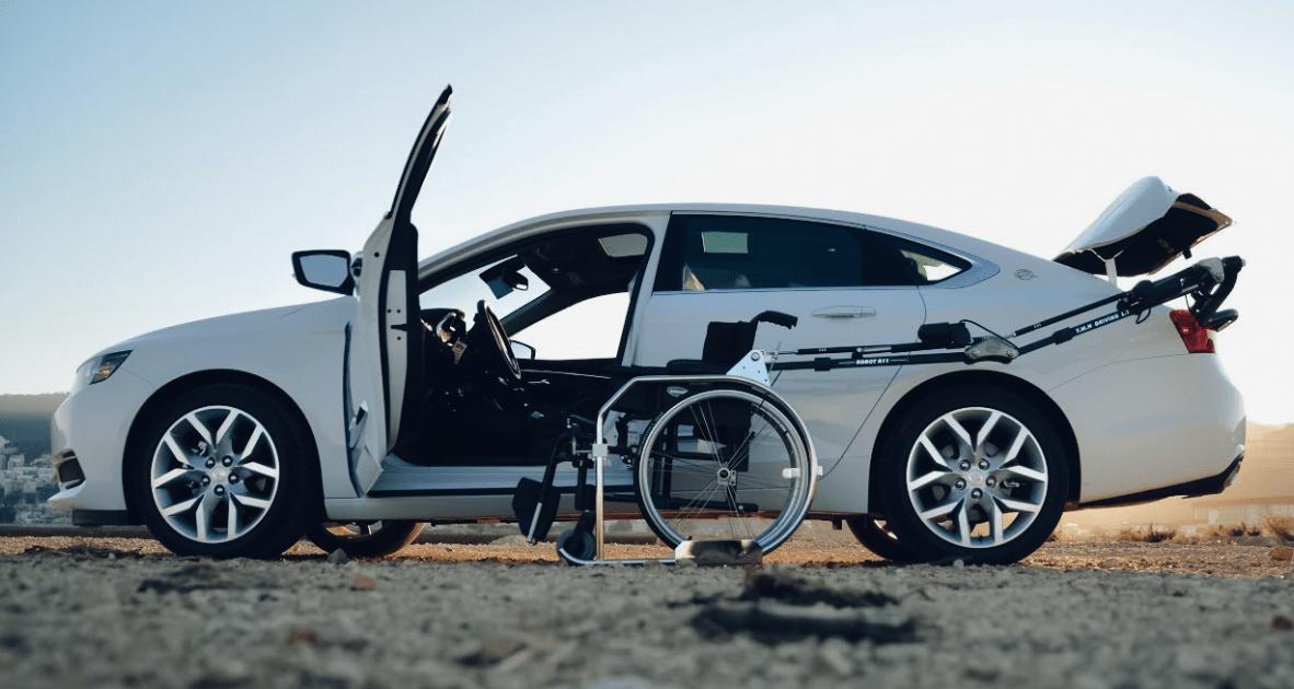 chargement fauteuil roulant voiture
